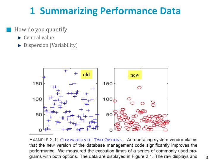 1  Summarizing Performance Data