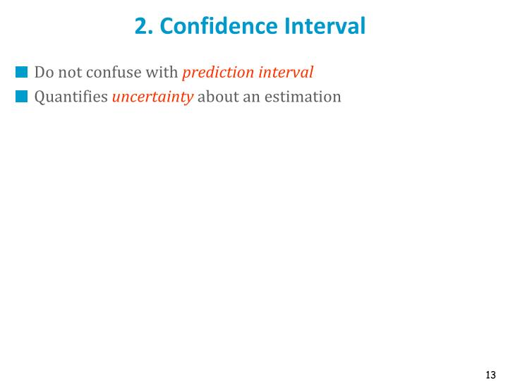 2. Confidence Interval