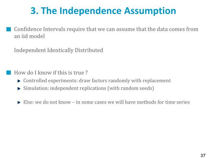 3. The Independence Assumption