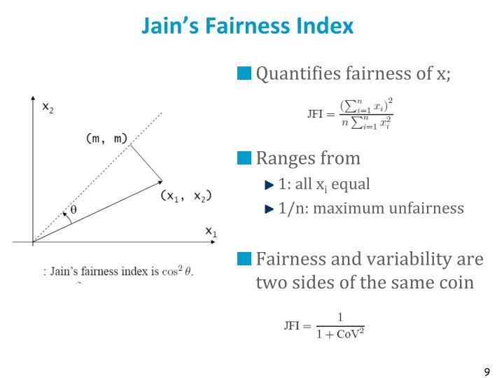 Jain's Fairness Index