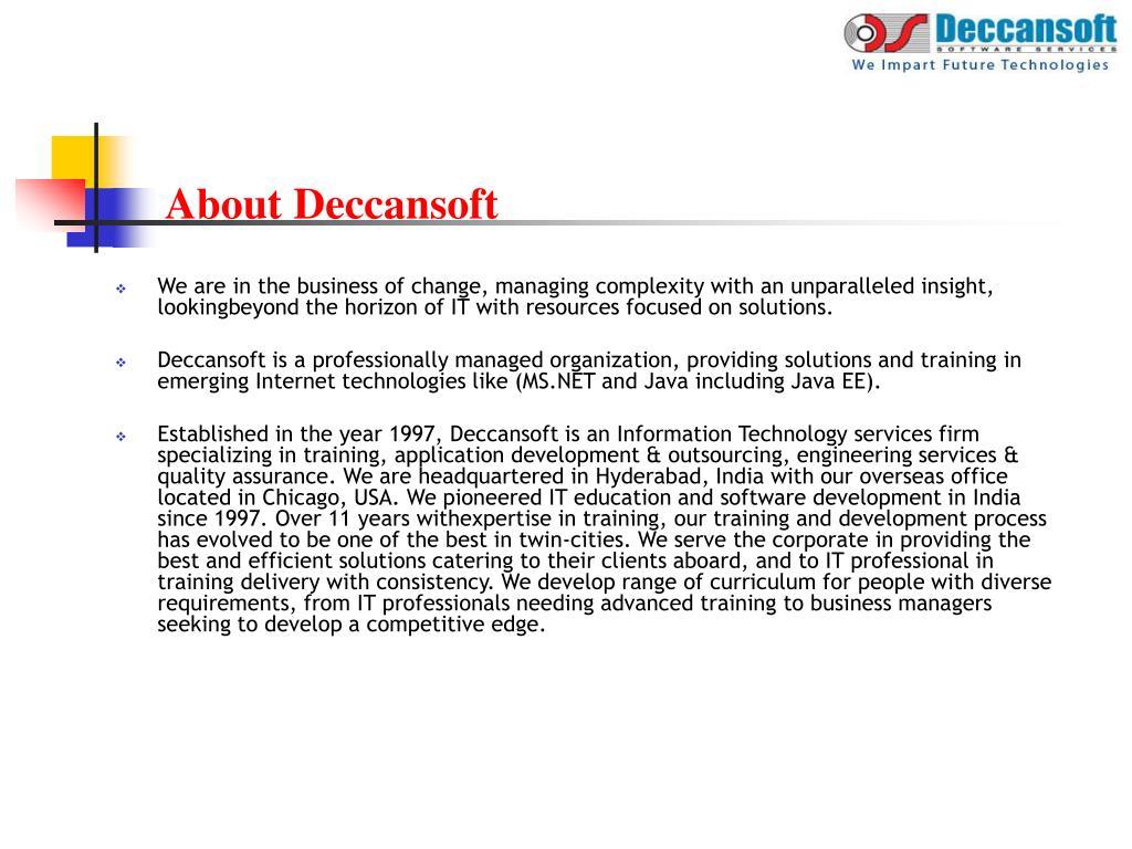 About Deccansoft