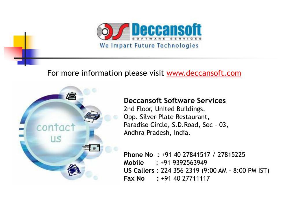 For more information please visit