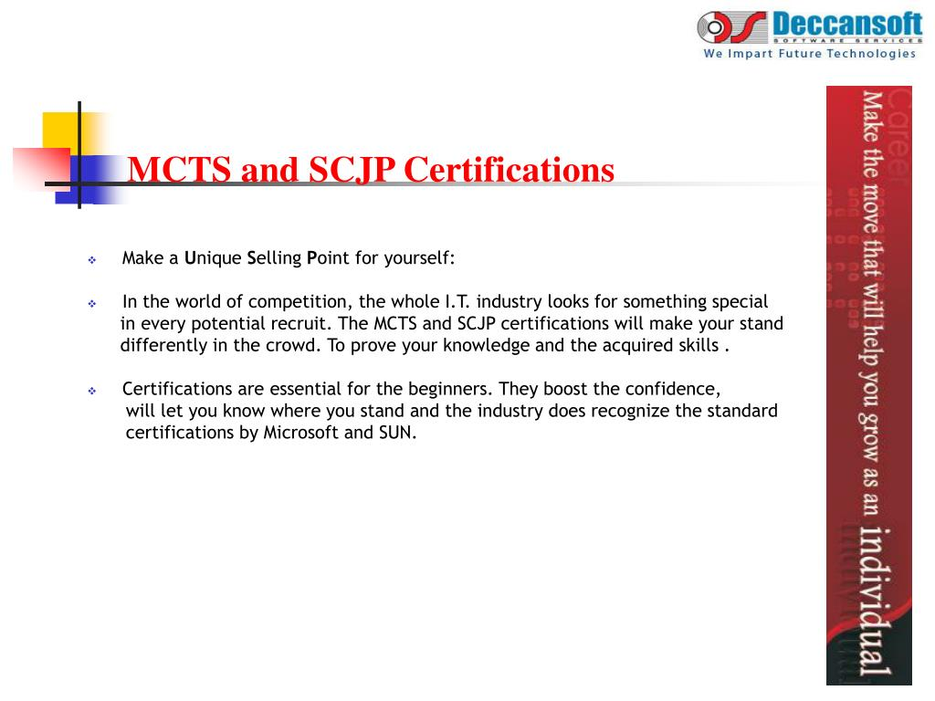MCTS and SCJP Certifications