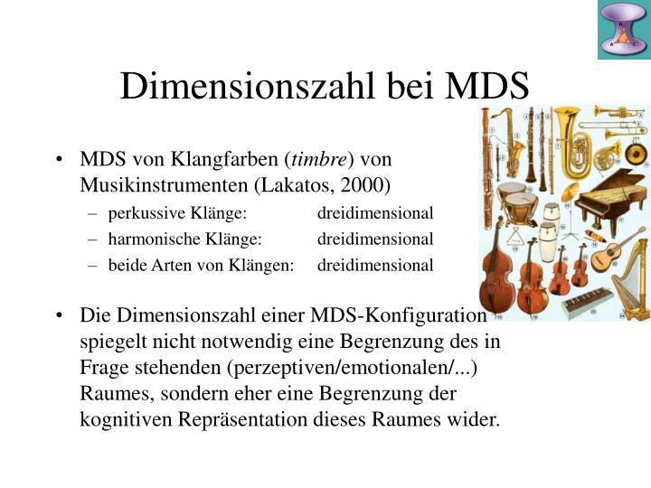 Dimensionszahl bei MDS