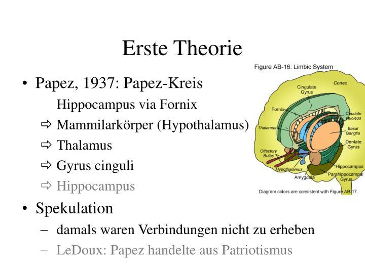 Erste Theorie