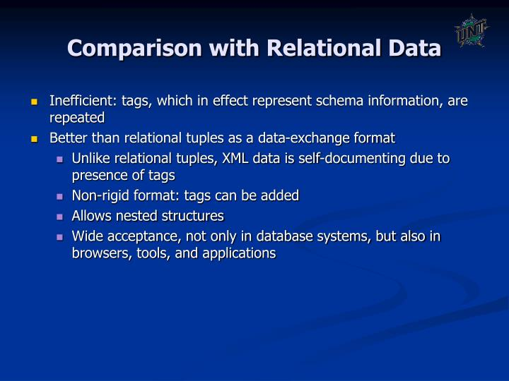 Comparison with Relational Data