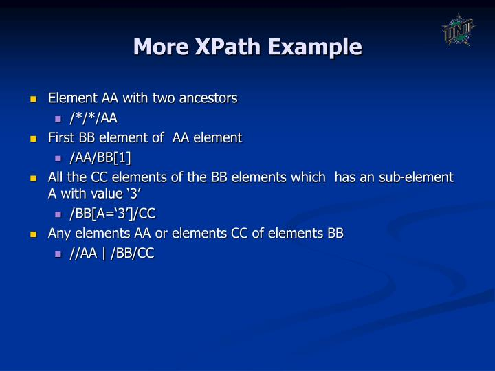 More XPath Example