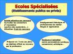 ecoles sp cialis es etablissements publics ou priv s