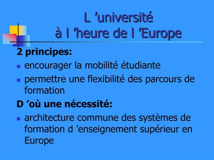 L'université