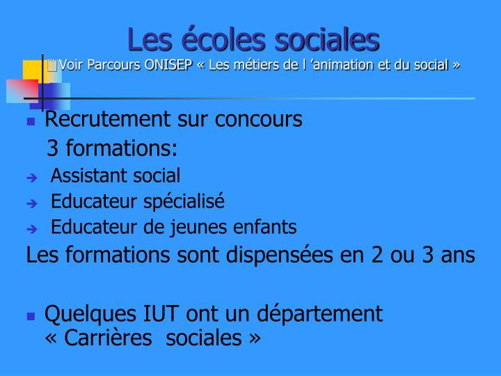 Les écoles sociales