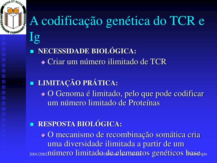 A codificação genética do TCR e Ig