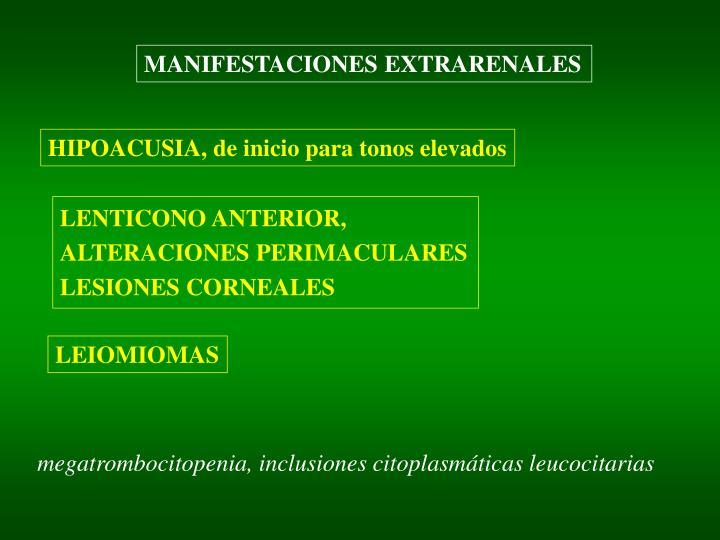 MANIFESTACIONES EXTRARENALES