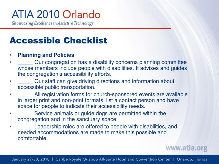Accessible Checklist