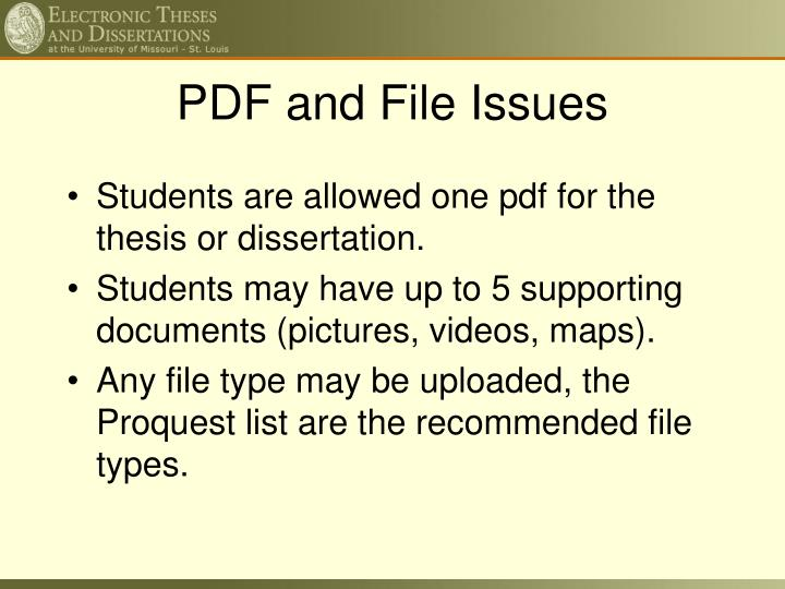 PDF and File Issues