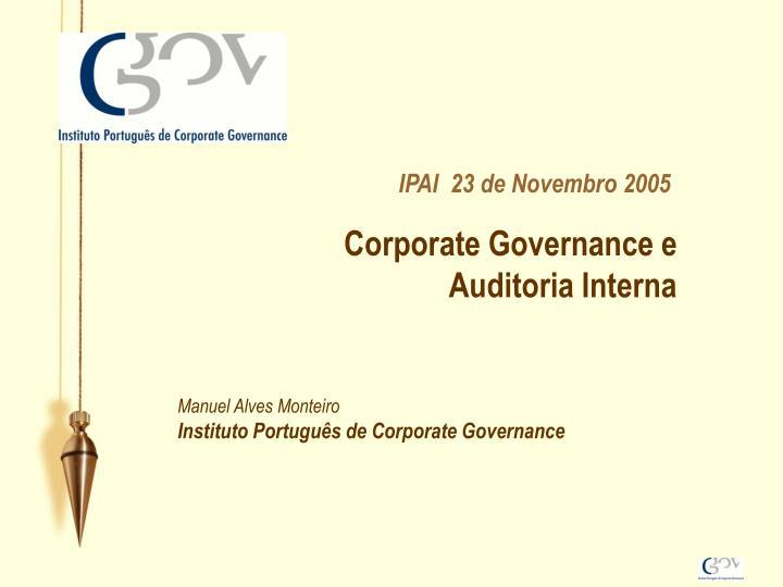 Corporate Governance e