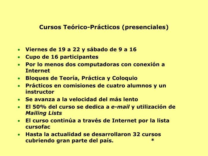 Cursos Teórico-Prácticos (presenciales)