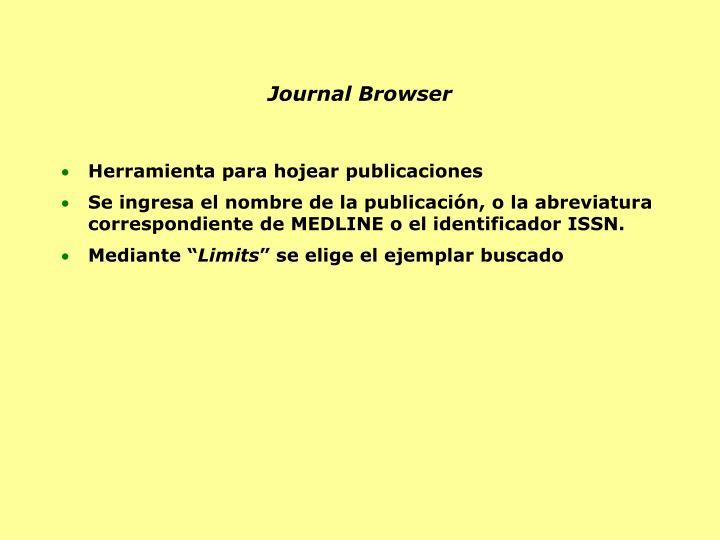 Journal Browser