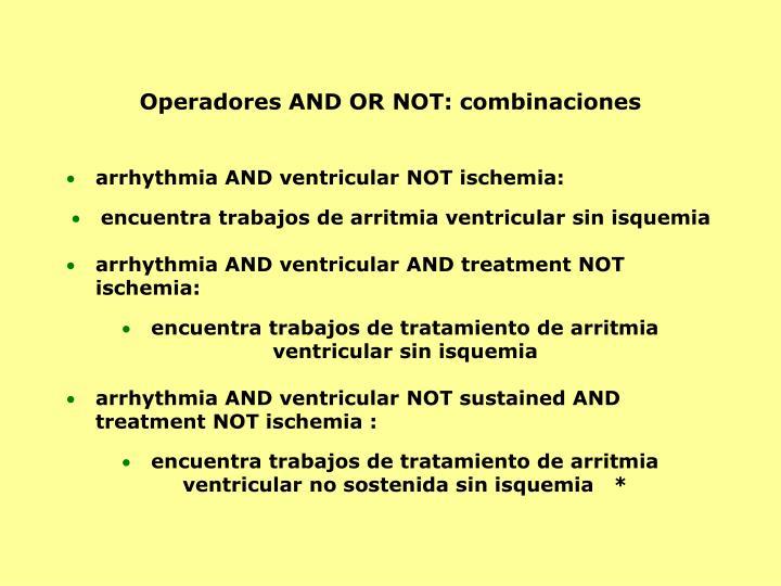 Operadores AND OR NOT: combinaciones