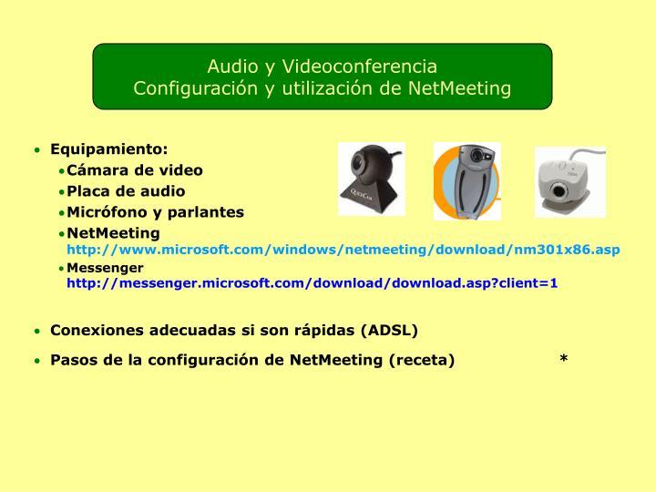 Audio y Videoconferencia