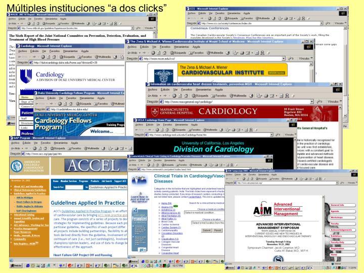 """Múltiples instituciones """"a dos clicks"""""""