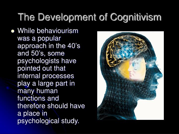 The development of cognitivism
