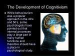 the development of cognitivism