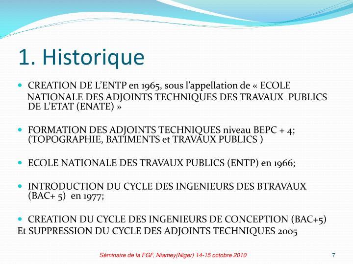 1. Historique