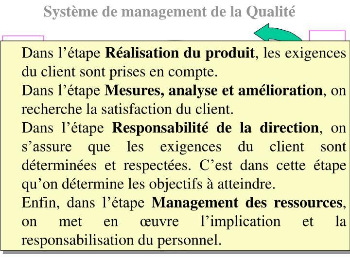 Système de management de la Qualité