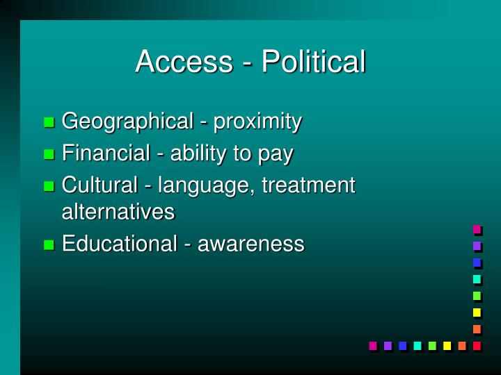 Access - Political