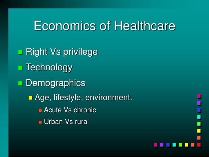 Economics of Healthcare