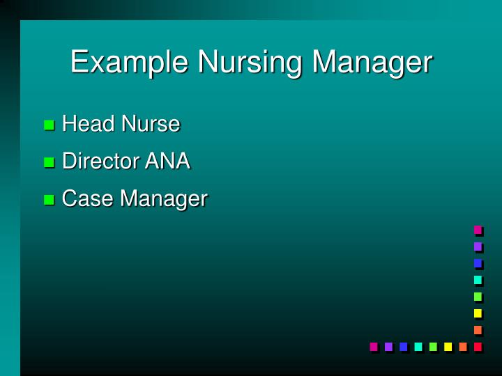 Example Nursing Manager
