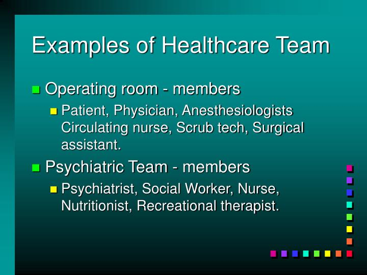 Examples of Healthcare Team
