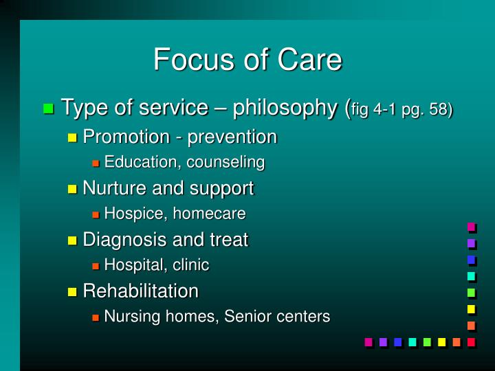 Focus of care