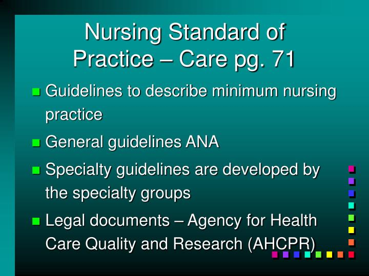 Nursing Standard of