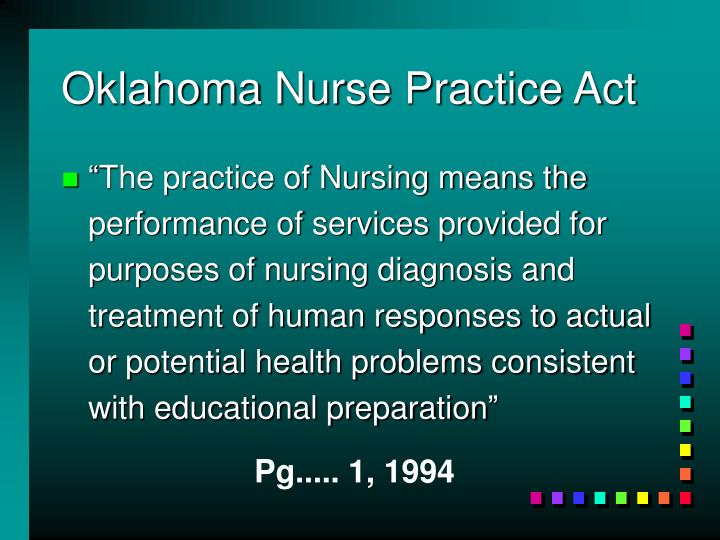 Oklahoma Nurse Practice Act