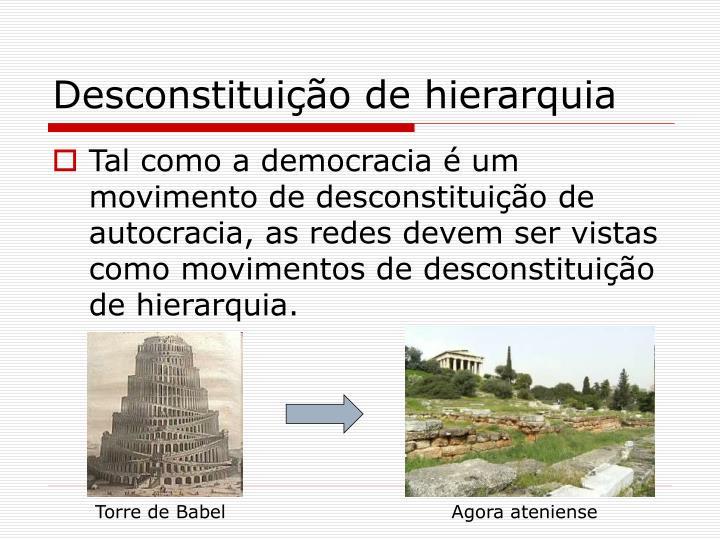 Desconstituição de hierarquia