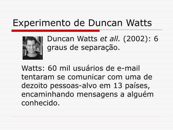 Experimento de Duncan Watts