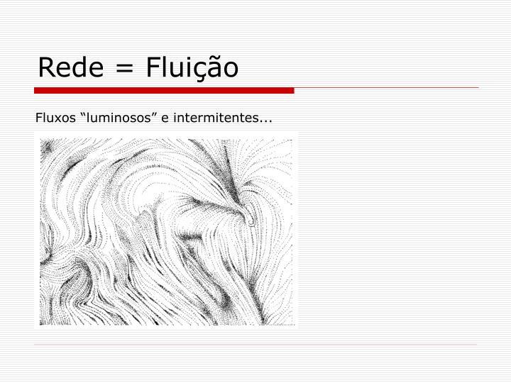 Rede = Fluição