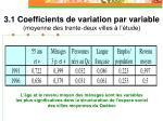 3 1 coefficients de variation par variable moyenne des trente deux villes l tude