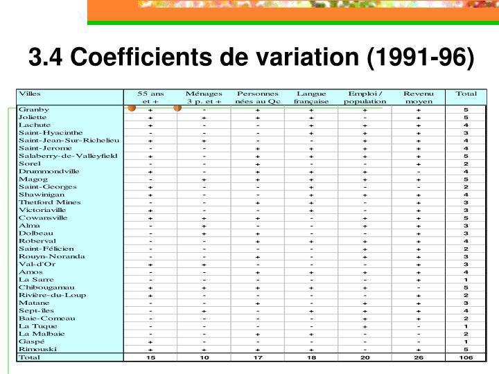 3.4 Coefficients de