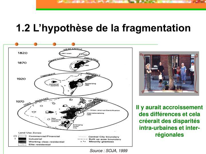 1.2 L'hypothèse de la fragmentation