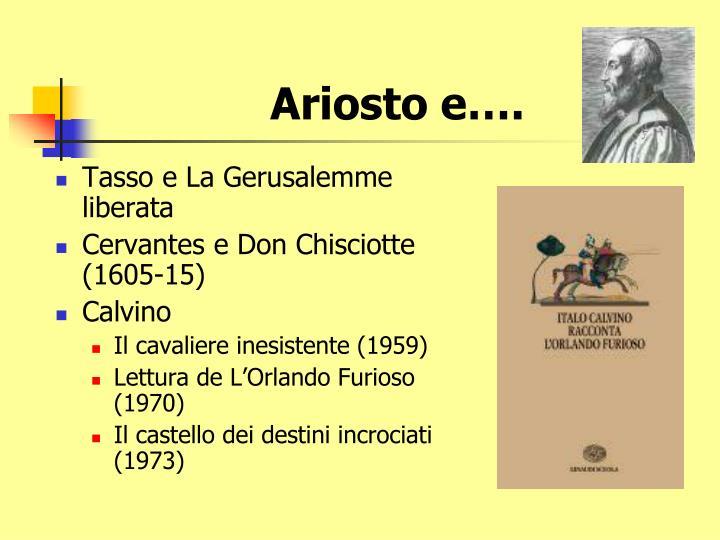 Ariosto e….