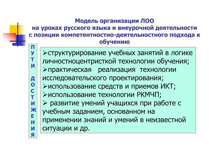 Модель организации ЛОО