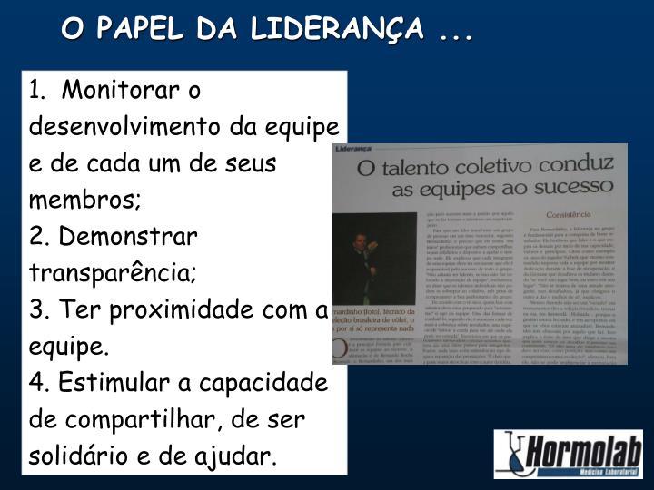 O PAPEL DA LIDERANÇA ...