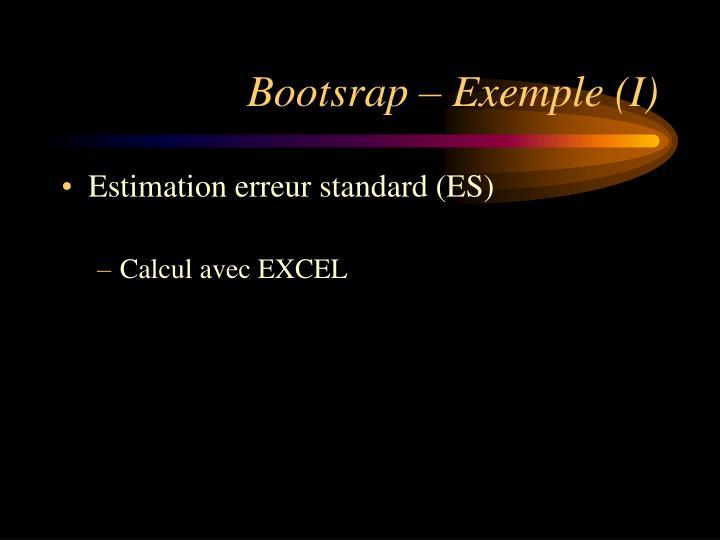 Bootsrap – Exemple (I)
