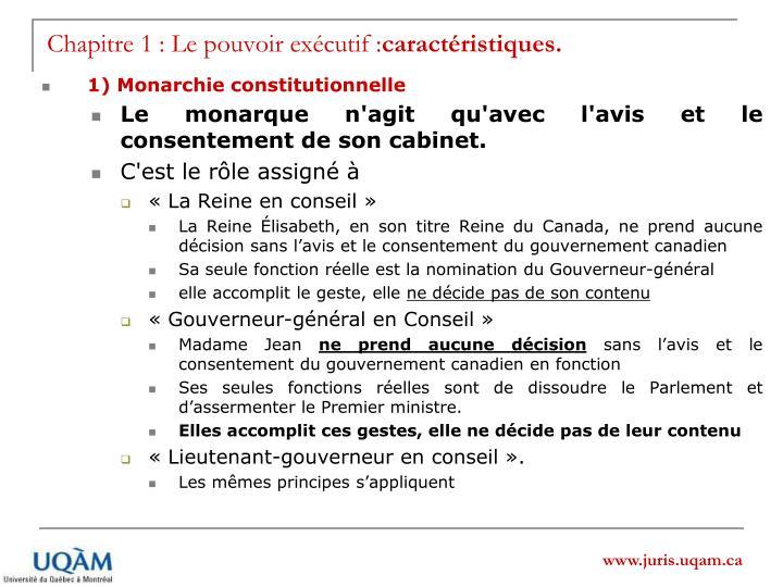 1) Monarchie constitutionnelle