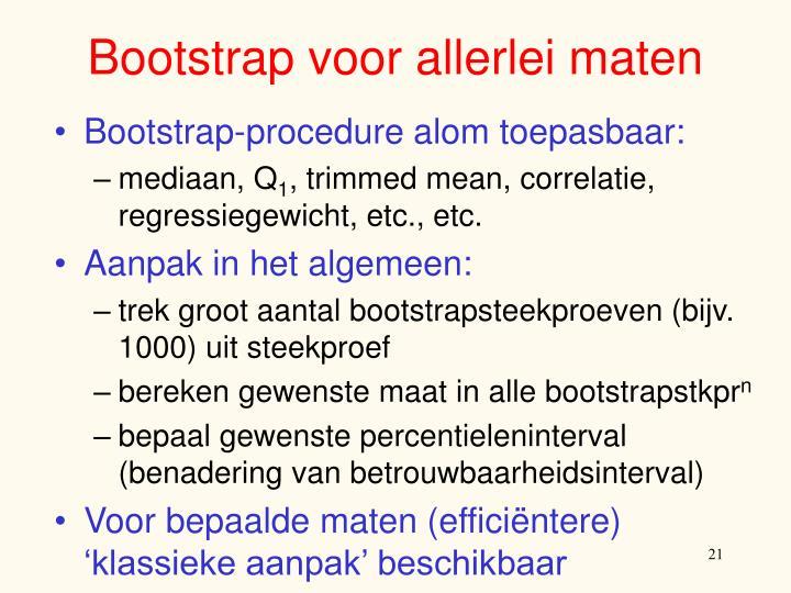 Bootstrap voor allerlei maten