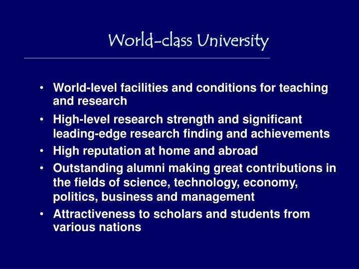 World-class University