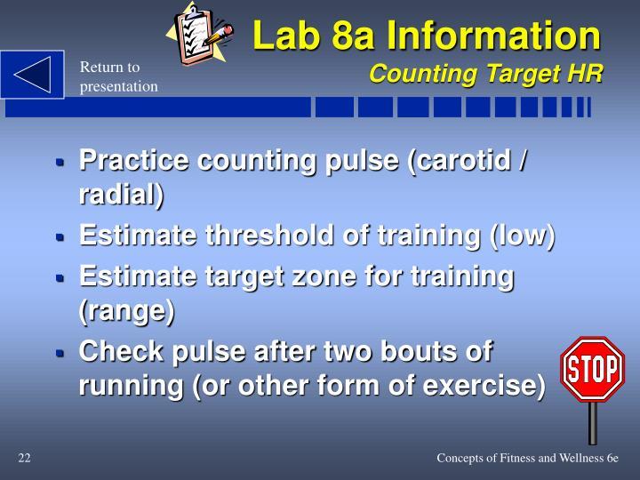 Lab 8a Information