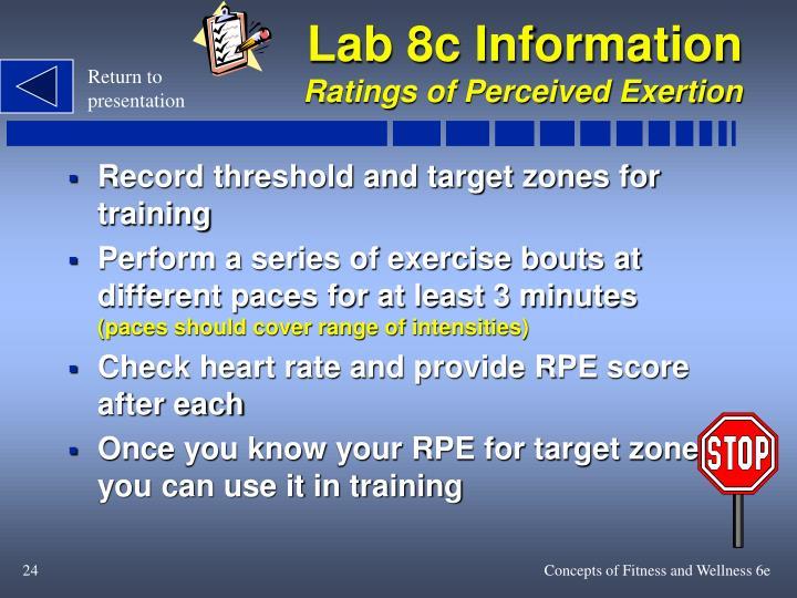 Lab 8c Information